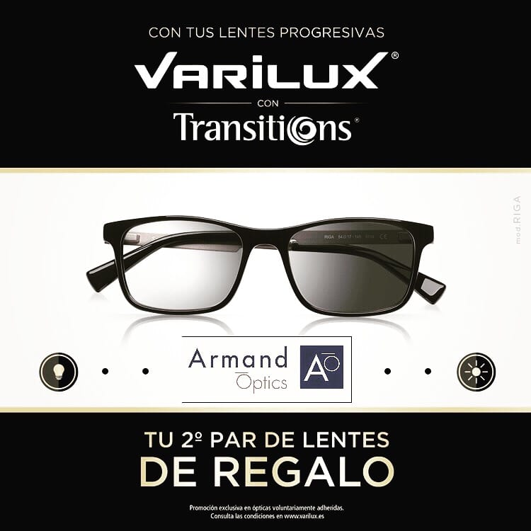 4b06acdf3b Promoción Varilux Transitions - Armand Optics